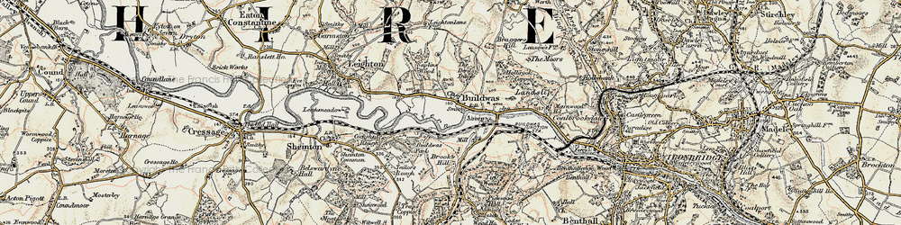 Old map of Buildwas in 1902