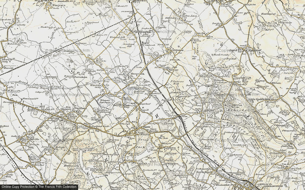 Old Map of Bulbourne, 1898 in 1898