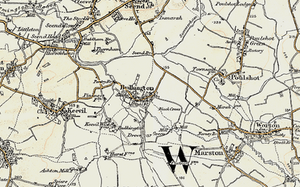 Old map of White Horse Trail in 1898-1899