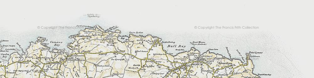Old map of Bull Bay in 1903-1910