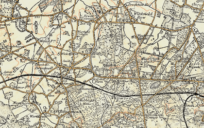 Old map of Bullbrook in 1897-1909