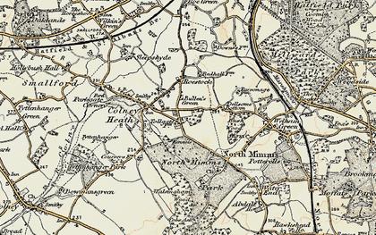 Old map of Bullen's Green in 1897-1898
