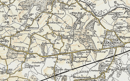 Old map of Woodgreen in 1898-1900