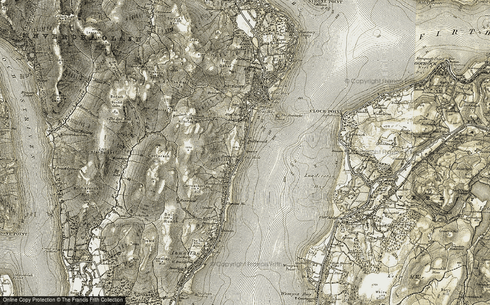 Old Map of Historic Map covering Balgaidh Burn in 1905-1907