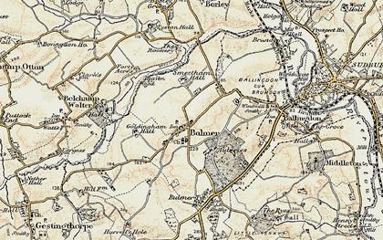 Old map of Bulmer in 1898-1901