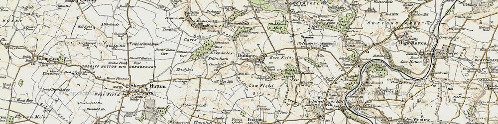 Old map of Bulmer in 1903