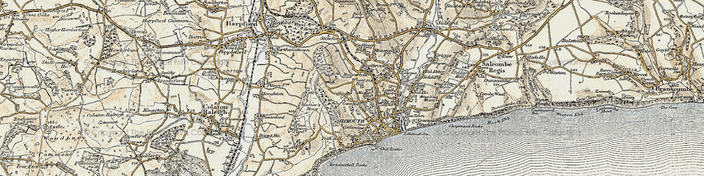 Old map of Wheat Hill in 1899