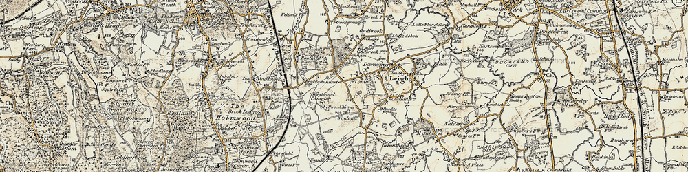 Old map of Westwood Common in 1898-1909