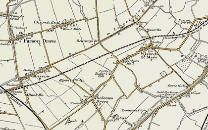 Old map of Bunker's Hill in 1901-1902