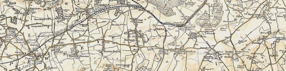 Old map of Wolfhall in 1897-1899