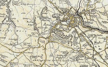 Old map of Burbage in 1902-1903