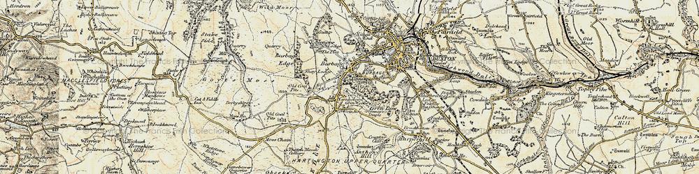 Old map of Wild Moor in 1902-1903