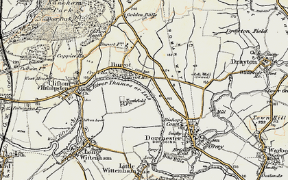 Old map of Burcot in 1897-1899