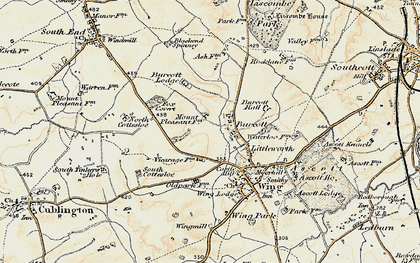 Old map of Burcott in 1898