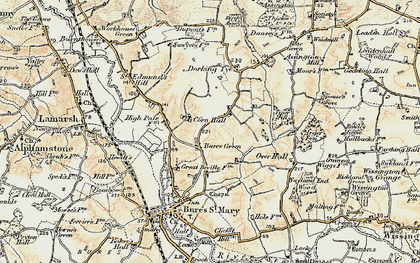 Old map of Wissington Grove in 1898-1901