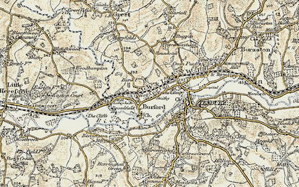 Old map of Ledwich Br in 1901-1902
