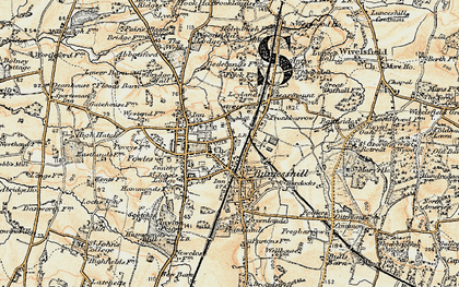 Old map of Burgess Hill in 1898