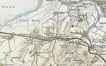 Old map of Burgh by Sands in 1901-1904