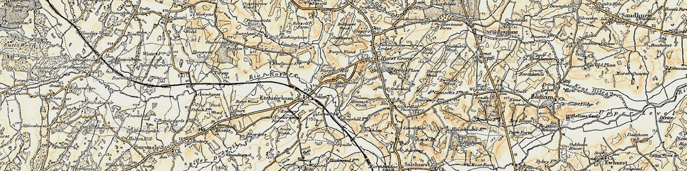 Old map of Swiftsden in 1898