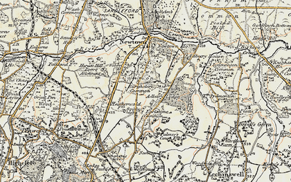 Old map of Adbury Park in 1897-1900