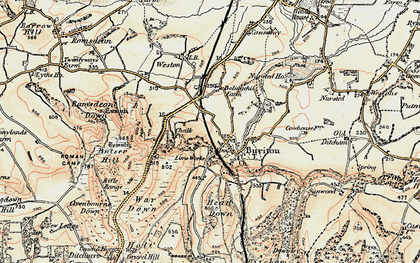 Old map of Buriton in 1897-1900