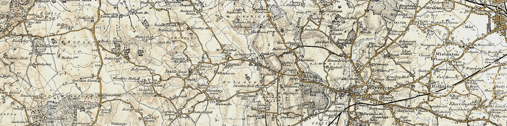 Old map of Whitehaven in 1902