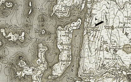 Old map of White Stone of Toufield in 1911-1912