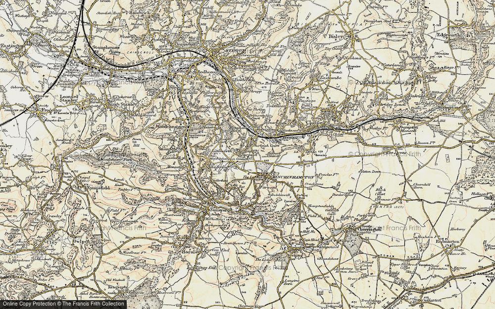 Old Map of Burleigh, 1898-1900 in 1898-1900