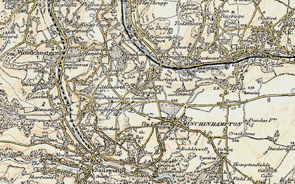 Old map of Burleigh in 1898-1900