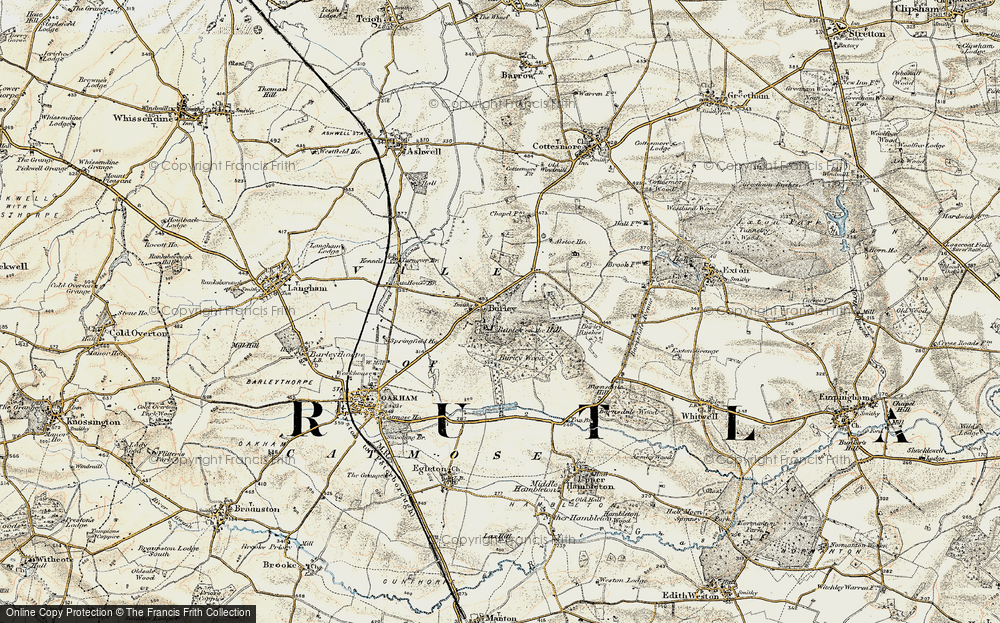 Old Map of Burley, 1901-1903 in 1901-1903