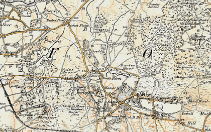Old map of Backley Plain in 1897-1909