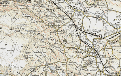 Old map of Burley Woodhead in 1903-1904