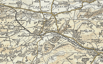Old map of Worsell Wood in 1900-1903