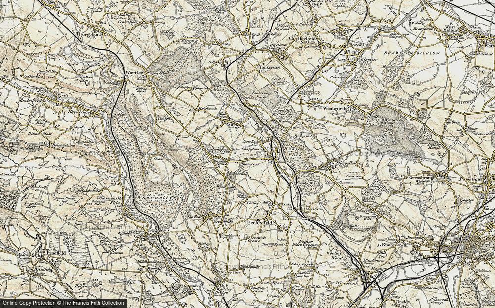 Old Map of Burncross, 1903 in 1903