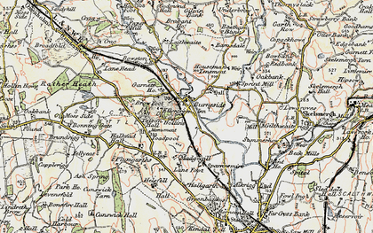 Old map of Lane Foot in 1903-1904
