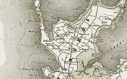 Old map of Airon in 1912