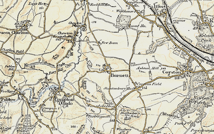 Old map of Burnett in 1899