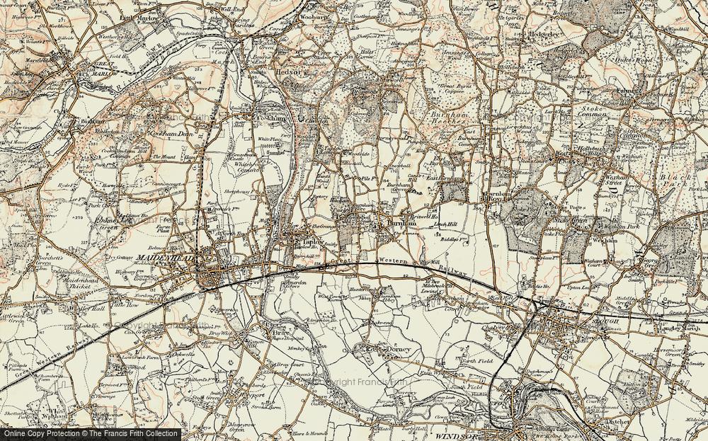 Old Map of Burnham, 1897-1909 in 1897-1909