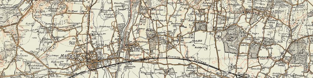 Old map of Burnham in 1897-1909