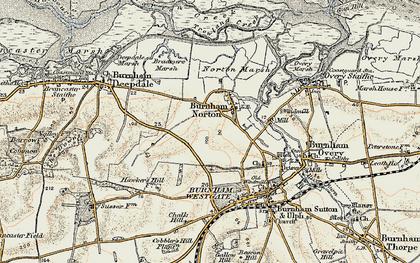 Old map of Burnham Norton in 1901-1902