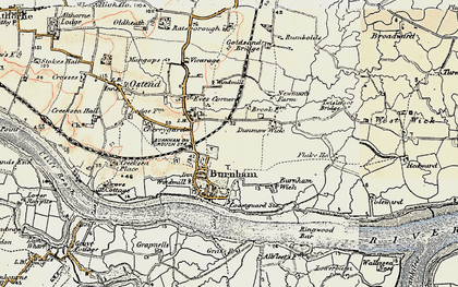 Old map of West Wick in 1898