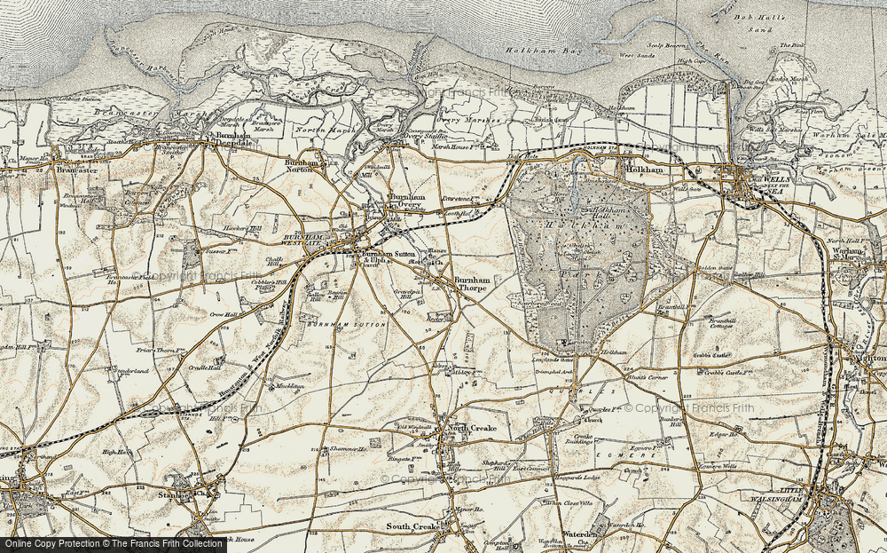 Old Map of Historic Map covering Leath Ho in 1901-1902