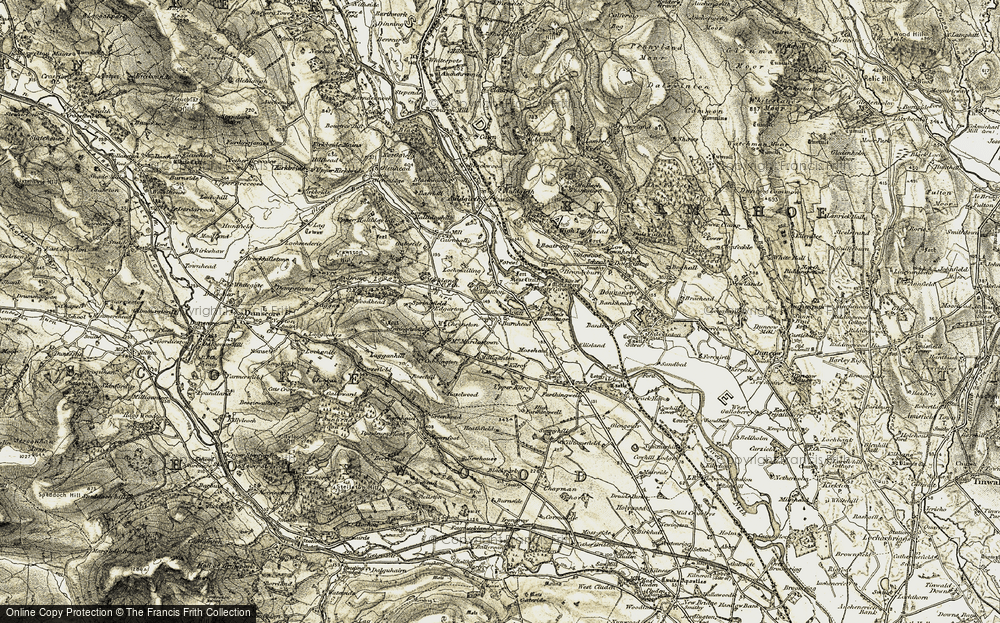 Old Map of Historic Map covering Allanton in 1901-1905