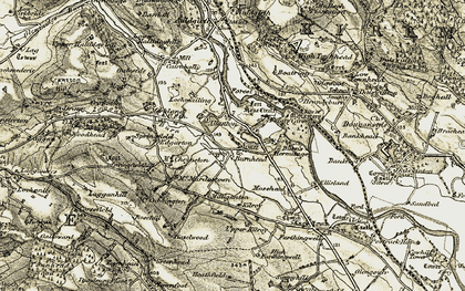 Old map of Allanton in 1901-1905