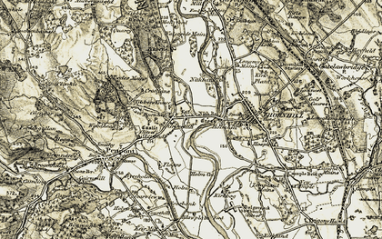 Old map of Burnhead in 1904-1905