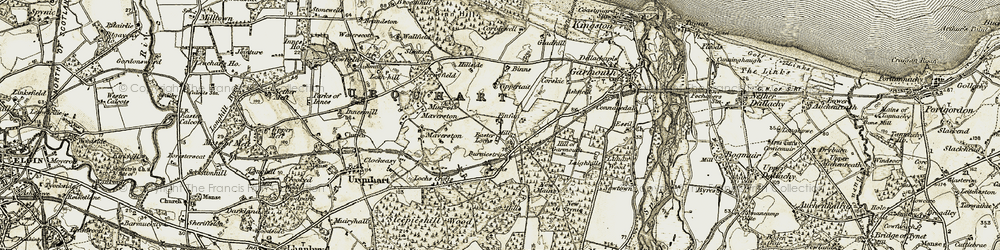 Old map of Tippertait in 1910
