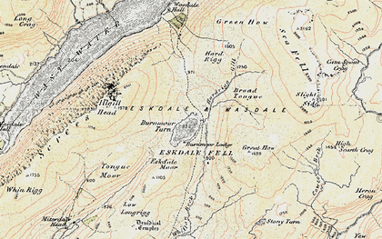 Old map of Whinscales in 1903-1904