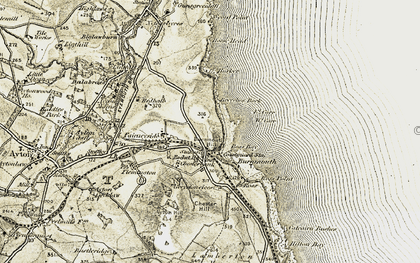 Old map of Burnmouth in 1901-1903