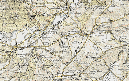 Old map of Burnopfield in 1901-1904