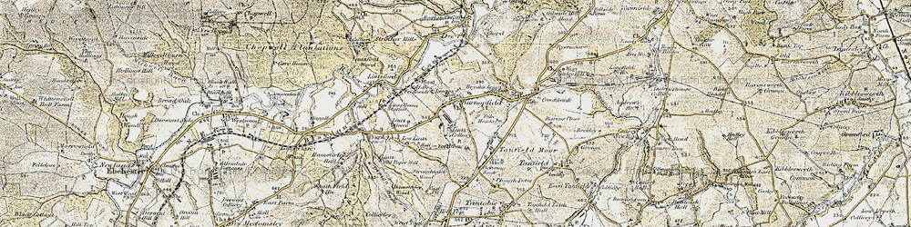 Old map of Lintz Green in 1901-1904